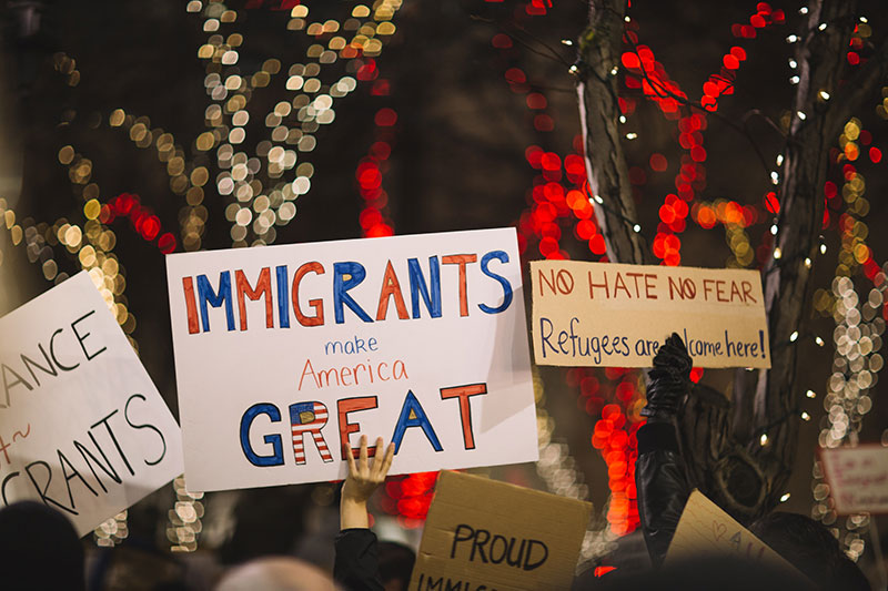"""Immigrants make America great"""